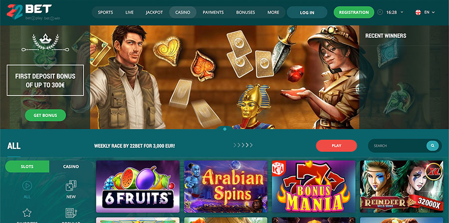22 bet casino review