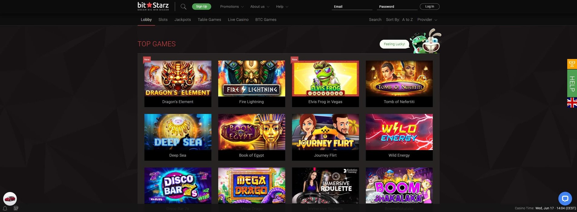 Games at BitStarz Casino